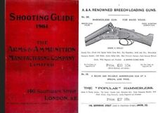 Arms and Ammunition Manufacturing Company Shooting Guide 1904 (London, England)