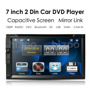 """Double 2Din In Dash Sony CD Lens 7""""Car Stereo Radio CD DVD Player AUX BT TV MP3"""
