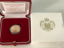 Monaco Euro BE 2019 Avènement d'Honoré V,  2 euro avec certificat