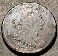 1798 Draped Bust Large Cent 1c Rare Date 2nd Hair S-184 Variety Us Type Coin