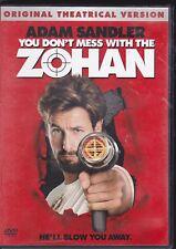 You Don't Mess With the Zohan 2009 PG-13 DVD MOVIE Adam Sandler, John Turturro