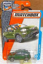 2017 Matchbox Adventure #3-125 Green '16 Fiat 500X Diecast 4+ Boys & Girls Thail