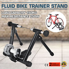 Indoor Bike Trainer Stand Fluid Resistance Stationary Bicycle Exercise HOT