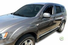 DMI23352 MITSUBISHI OUTLANDER 2007-2012  WIND DEFLECTORS 4pc HEKO TINTED