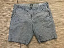 J Crew Adult Mens 34 Linen Shorts Blue F8711