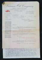 Facture VACUUM OIL COMPANY 1926 NANTES bidon huile oil can