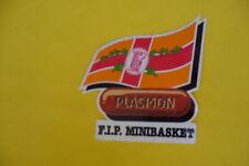 adesivo vintage anni 80 Plasmon fip minibasket basket pallacanestro sport sticke