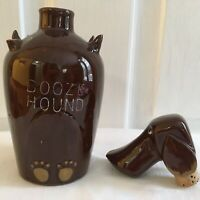 "Vintage BOOZE HOUND Dog WHISKEY DECANTER A Quality Product Japan 7 3/4"" Bottle"