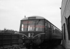 PHOTO  DMU SUBURBAN UNIT AFTER ARRIVAL(?) AT CLARENCE ROAD STATION REAR DRIVING
