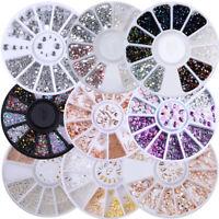 Nail Rhinestone Studs Beads Rivet Gems Rose Gold 3D Nail Art Decoration in Wheel
