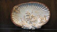 VIntage ARNEL'S Pottery Mold #551 Grape Majolica Dish