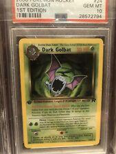 2000 Pokemon Team Rocket 1st Edition Dark Golbat #24/82 – PSA 10 (GEM MINT)