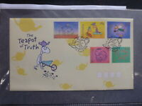 AUSTRALIA 1998 TEAPOT OF TRUTH SET 5 STAMPS FDC FIRST DAY COVER