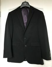 "NEW ""Taylor & Wright"" Suit - Jacket 36S Trousers 32R Black pinstriped, cover inc"