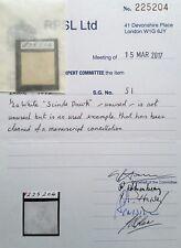British India Stamp Scinde Dawk 1/2a white SG S1 1852 RPSL Certificate CV £2250