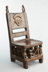 Chockwe Initiation Chair, Congo, Angola, South West African Tribal Art.