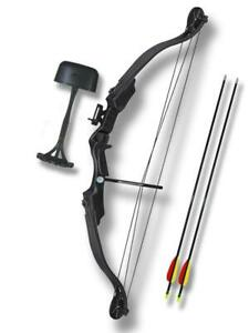 "MK CB010-BK Archery Bow Arrows Plastic Riser & Limb 25"" Draw Weight  28"" Draw"
