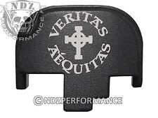 for Smith Wesson S&W M&P 9 40 45 Rear Slide Back Plate Blk Veritas Aequitas 4