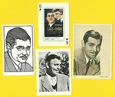 Clark Gable Movie Actor Gone with the Wind Fab Card LOT B It Happened One Night