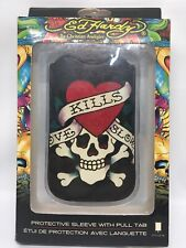 "Ed Hardy Skeleton Heart ""LOVE KILLS SLOW"" Sleeve For iPhone 4 And 4S"