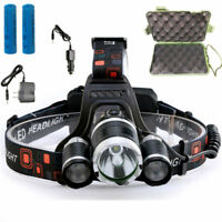 50000LM Rechargeable 18650 LED Headlamp Flash Light Lamp XML T6 Headlight Torch