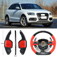 Carbon Fiber Gear DSG Steering Wheel Paddle Shifter Cover Fit For Audi SQ5 13-17