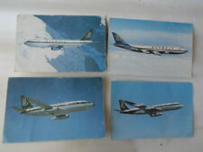 4 CARTES POSTALES COMPAGNIE OLYMPIC BOING 747 707 737 AIRBUS A300