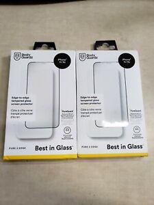 LOT OF 2 - BodyGuardz Pure 2 Edge Glass Screen Protector - iPhone 11 XR
