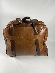 Vintage SINGER Sewing Machine Brown Vinyl Travel Carrying Bag