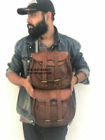 Panniers Bag Motorcycle Pouch Brown Leather 2 Bags Side Pouch Saddlebags Saddle