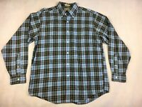 L.L. Bean Long Sleeve US Air Force Tartan Plaid Shirt - Men's Size Medium