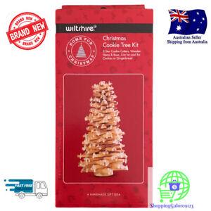 Wiltshire Christmas Cookie Tree Kit DIY Gifts Gingerbread Cookies 5 Star Cutters