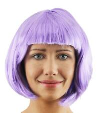BOB WIG FANCY DRESS SHORT GLOSSY HAIR WITH FRINGE 20S FLAPPER COSPLAY 8 COLOURS