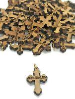 50 olive Wood Cross Jerusalem Necklace Holy Land Rosary Crosses Makers Carved