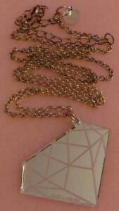 Alex & Chloe Mirrored Acrylic Diamond Necklace Geometric Diamond Pattern RARE