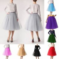 Women Girl Prom  Fancy Skirt Five Layers tulle Skirts Adult Tutu Ball Gown Dress
