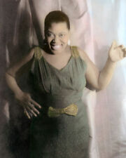 "BESSIE SMITH EMPRESS OF THE BLUES SINGER 8x10"" HAND COLOR TINTED PHOTOGRAPH"