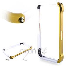 Bumper Aluminio Vapor 4 para iPhone 4 / 4S Dorado y Plata a554