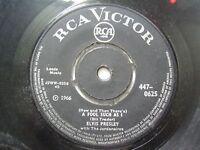 "ELVIS PRESLEY IRCA 8006  BLACK RARE SINGLE 7"" 45 RPM INDIA INDIAN VG-"