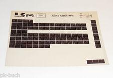 Microfiche Catalogo ricambi Kawasaki GPZ 750 Modello 1985 Stand 07/1985
