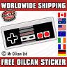 arcade conroller sticker / JDM eurolook dub vag drifting, mr oilcan 160x54mm