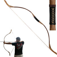 30-55 Lbs Outdoor Archery Hunting Traditional Wooden Recurve Bow Longbow Target