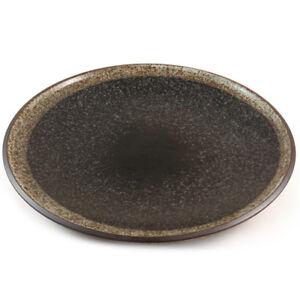Japanese Stoneware Plate - Beautiful Speckle Glaze - 16cm