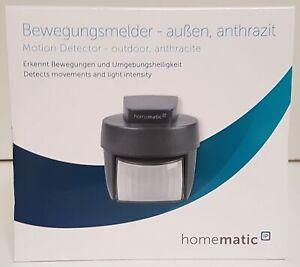 Homematic IP Bewegungsmelder mit Dämmerungssensor außen, anthrazit