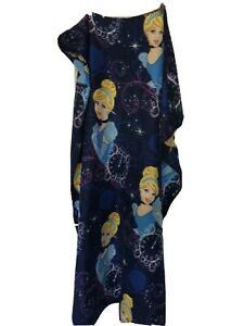 Childs Disney Cinderella Throw Blanket 41 x 56 Blues Plush