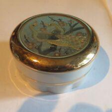 Boîte à bijoux avec couvercle en or 24 K et argent du Japon  «  The art of Choki