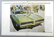 Original 1968 Pontiac GTO Ad THE QUICKEST WAY TO LEAN THE DIFFERENCE