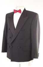 CHARLTON GREY MEN'S BLACK EVENING TUXEDO SUIT 38S DRY-CLEANED