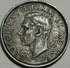 1943 25C Canada 25 Cents, Canadian Quarter, George VI, Silver, #9167