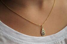 Gold Hamsa Hand Necklace * Talisman Necklace * Fatima Hand